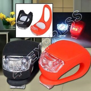 FLASH Light Set Silicone Bike Bicycle Light Head Rear Wheel Light NEW