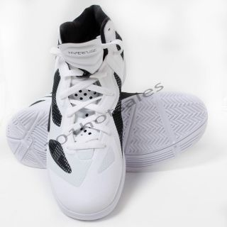 Nike Womens White/Black Zoom Hyperfuse Basketball Shoes 454153 100
