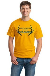 DEER HUNTERS GET ALL THE BIG RACKS ..Adult Unisex T shirt. Funny