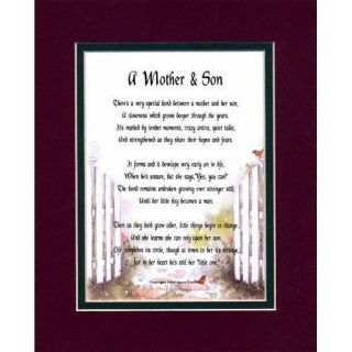 MOTHER & SON   MOTHERS DAY GIFT FOR MOM SON BIRTHDAY