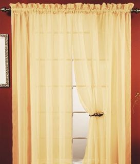 WINDOW CURTAIN PANEL, 18 COLORS, GREAT QUALITY SHEER CURTAIN   55X84