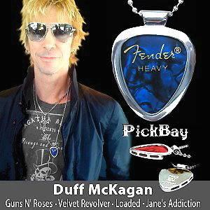 Necklace by Pickbandz PICK HOLDER in Black w/ J Hendrix guitar pick