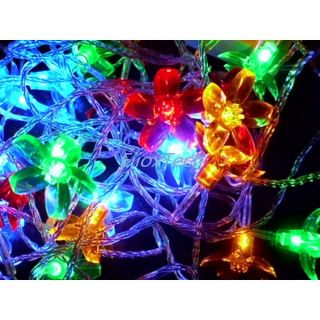 Multi Color Battery Powered 40 Led Blossom Shape String Light