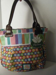 LARGE PURSE HANDBAG BY LILY BLOOM STRIPES & DOTS NEW WITH TAG $65