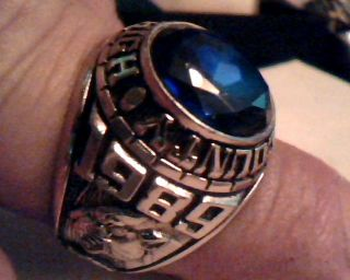 HUGE TIM GOLDTONE HARDIN COUNTY HIGH SCHOOL CLASS RING SIZE 9 1/2