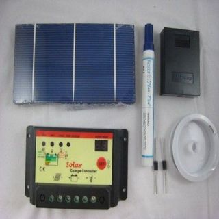 70W 40Pcs 3x6 Solar Panel Cell Kit 10A Controller,Tabbing Wire,Bus