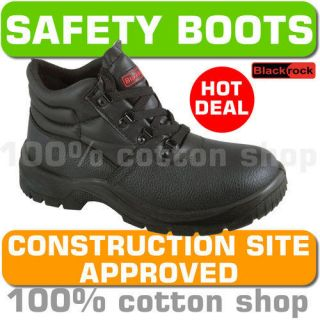 Blackrock Safety Work Leather Chukka Boots Shoes Black Steel Toe Cap