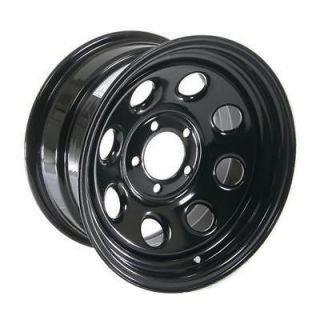 Cragar Soft 8 Black Steel Wheel 15x8 5x4.5 BC Fits Jeep Wrangler YJ