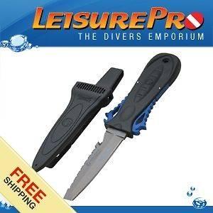Wenoka Squeeze Lock Knife, Blunt, Blue