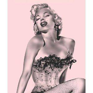 Marilyn Monroe Pink Fishnet Fleece Throw Blanket 50x60
