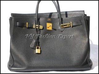 Pre Owned BLACK 40cm Hermes BIRKIN Bag/Gold