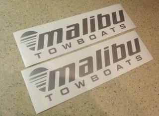 Newly listed Malibu Boat Decal Sticker Die Cut Silver 2 PAK FREE SHIP