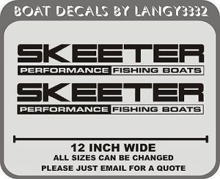Fishing Boat Decal 12 Stickers boat stickers decals graphics (pair
