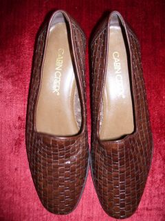 CABIN CREEK womens Loafers NEW NEW size 6.5 medium LEATHER Brown NEW