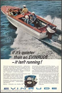1961 EVINRUDE OUTBOARD MOTOR on Lone Star Boat AD