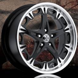20 Jesse James 20x8.5 LAWLESS Black 5x4.5 ONE Single +45 Replacement