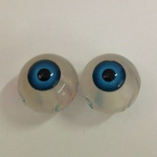 Pair of Blue Eyeballs Life Size  Halloween Prop  Skeletons  Skulls