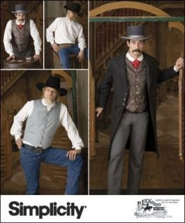 Mens Frock Coat Shirt Vest Historic Reenactment Simplicity Sewing