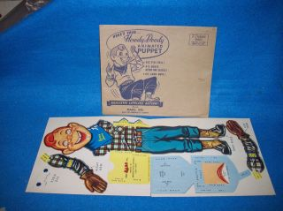 Howdy Doody Mars candy mail in premium animated puppet mint in