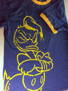 Shirt donald duck disney cartoon character art blue size sz m medium