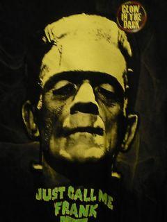 Frankensteins Monster,Boris Karloff, Glow in the Dark T shirt, cotton