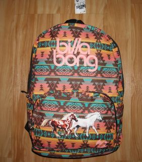 Girls HORSE Backpack~BILLA​BONG~CoLoRs~So​uthwestern~Run​ning