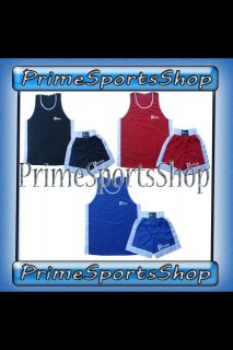 Boxing Shorts and top Set 2 pieces High Quality Satin Fabric Thai Kick