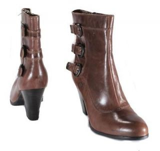 Born Womens Vivi Tan/Sauro Distressed Leather Ankle High Dress Boots