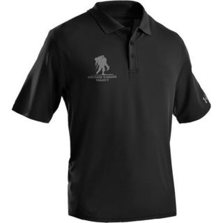 UA UNDER ARMOUR 1217625 001 MENS WOUNDED WARRIOR PROJECT POLO SHIRT