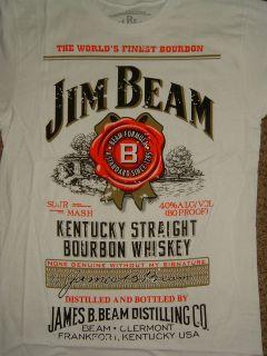 Jim Beam Kentucky Straight Bourbon Whiskey White T Shirt