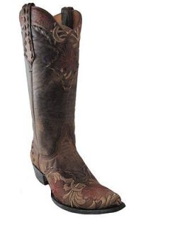 Womens Western Cowboy boot Old Gringo L640 2 Erin Brass