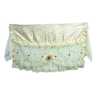 Flower Print Indoor Lace Edge Cloth Air Conditioner Cover