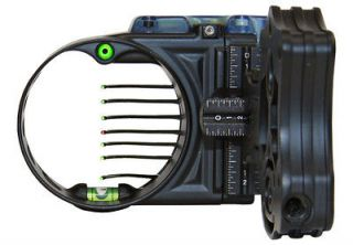IQ BowSight 7 Pin Bow Sight Black Left Hand Retina Lock #12005