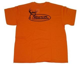 Buck Commander ~ Hunter Orange ~ Mens Deer Hunting T Shirt NEW BLACK