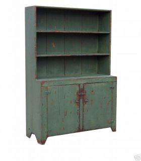 EARLY AMERICAN STEP BACK COUNTRY PRIMITIVE STEPBACK HUTCH CUPBOARD