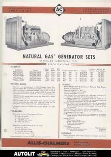 1956 Allis Chalmers Buda 8PCSG 2505 Natural Gas Generator Engine