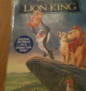 Walt Disneys The Lion King, Masterpiece Ed., VHS, New, In Shrink Wrap
