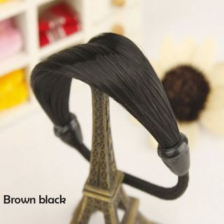 Brown Black Korean Simulation Pigtail Hair Wig Cannabis Hair Ring Rope