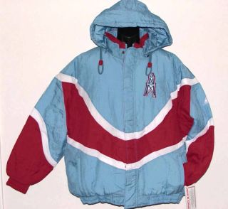 Vintage 90s Collectors HOUSTON OILERS NFL Apex One BLITZ Hooded