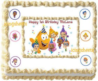Bubble Guppies Party 1/2 sheet kit Frosting Edible Icing sheet Cake