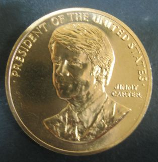 Mint President Jimmy Carter Bronze 34 mm Medal