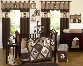 CHEAP JOJO BROWN TEDDY BEAR BABY BOY CRIB COMFORTER BEDDING SET ROOM