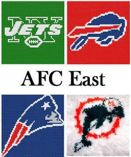 Pick 1 Football Logo 16X16 Latch Hook Kit / Message Me Your Choice