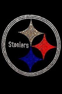 PITTSBURGH STEELERS LOGO BLING SHIRT RHINESTONES NFL FOOTBALL *SM 3X