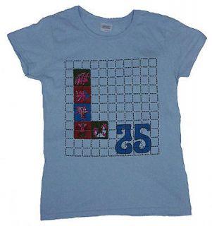 Womens Grateful Dead Elephant Print L25 Light Blue T Shirt