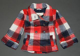 NEW HOLLISTER by Abercrombie Womens Wool Blend Swing Pea Coat Jacket