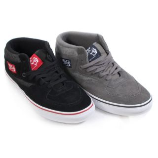 8f740984a09461 ... VANS MENS HALF CAB CHAMBRAY TRAINERS BLACK RED WHIT E  PEWTER TRUE ...