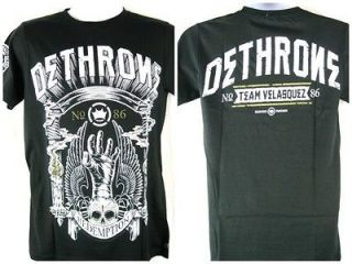 Dethrone Royalty Cain Velasquez Redemption Black T shirt New