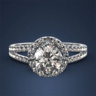 Carat Diamond Ring 1.2ct H SI2 One 18k White Right Hand One Weddin