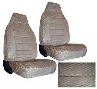 TAN BEIGE SCOTTSDALE FABRIC HIGH BACK NEW SEAT COVERS CAR TRUCK